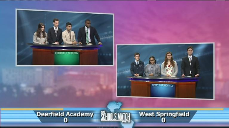 As Schools Match Wits: Quarterfinal #1: Deerfield Academy vs. West Springfield