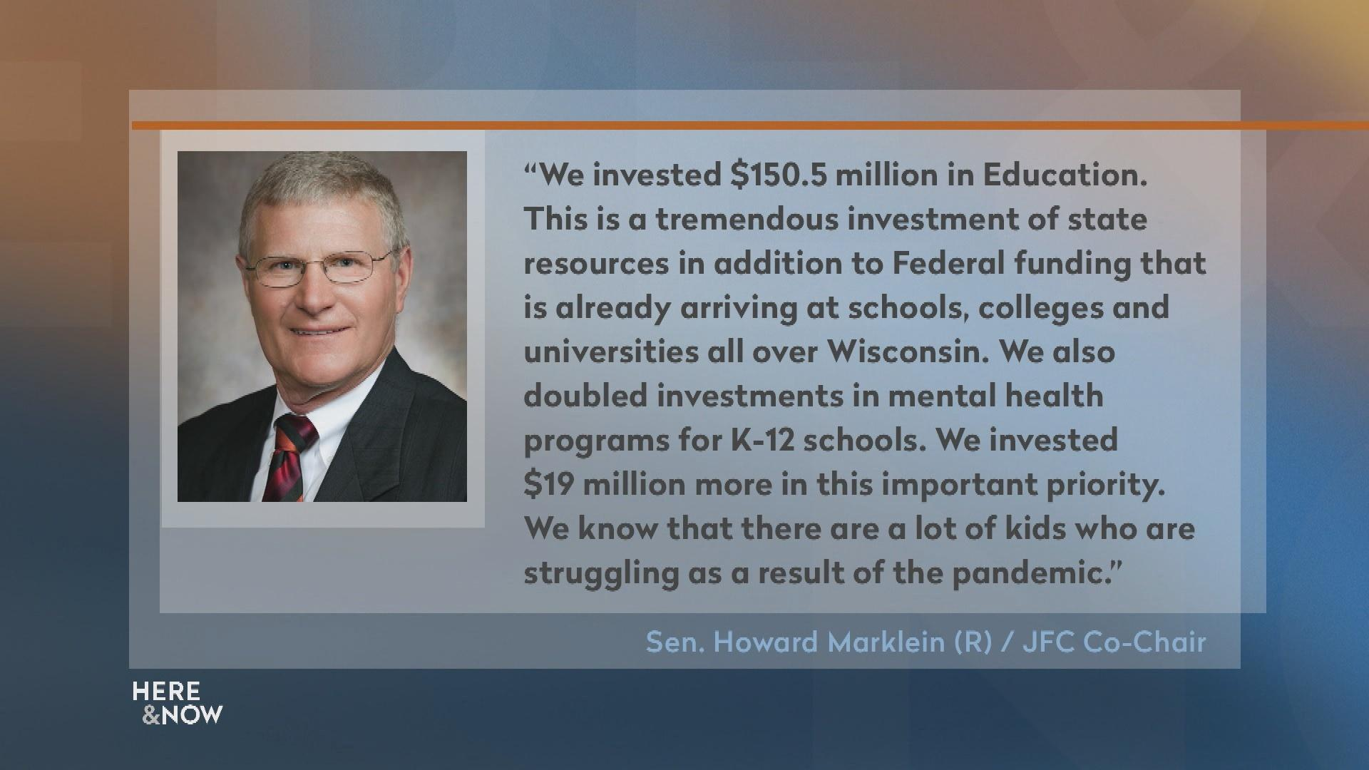 Senator Marklein Highlights Republican School Spending Plan