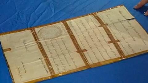 Antiques Roadshow -- Appraisal: 1820 Monroe & Adams-signed Document