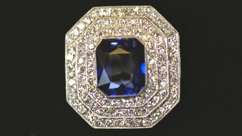Antiques Roadshow -- S21 Ep23: Appraisal: Diamond & Synthetic Sapphire Ring, ca.