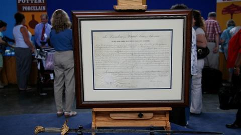Antiques Roadshow -- Appraisal: Presentation Sword & Lincoln-signed Appointment