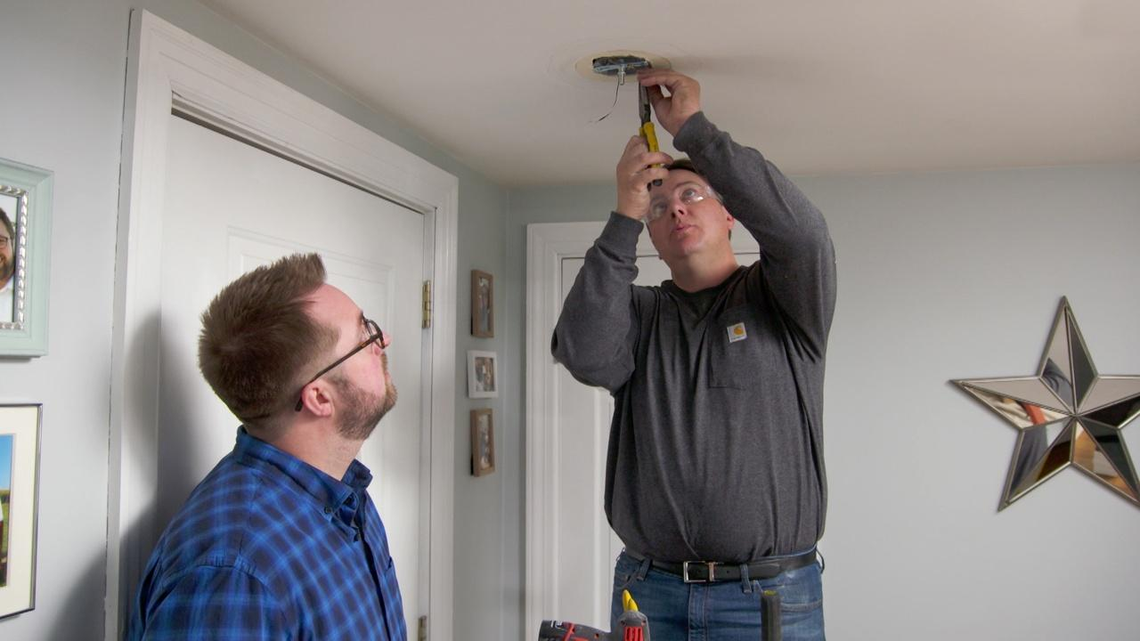 Ceiling Light, Tool Storage | Ask TOH