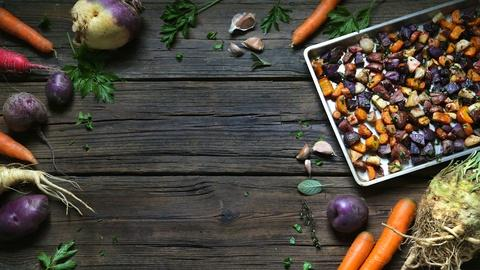 Kitchen Vignettes -- Daniel Mays' Roasted Root Vegetable Medley