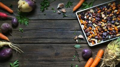 Daniel Mays' Roasted Root Vegetable Medley
