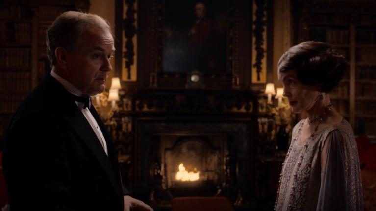 "Flicks: Hugh Bonneville & Elizabeth McGovern for ""Downton Abbey"""