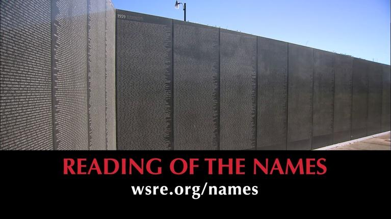 WSRE Previews and Trailers: Volunteers for Reading of the Names at The Wall South - 2018