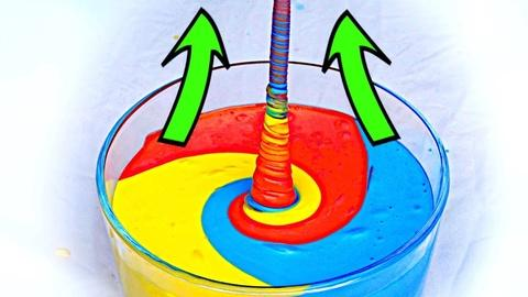 """Physics Girl -- How to make fluid """"climb"""" up! AMAZING SLIME EXPERIMENT!"""