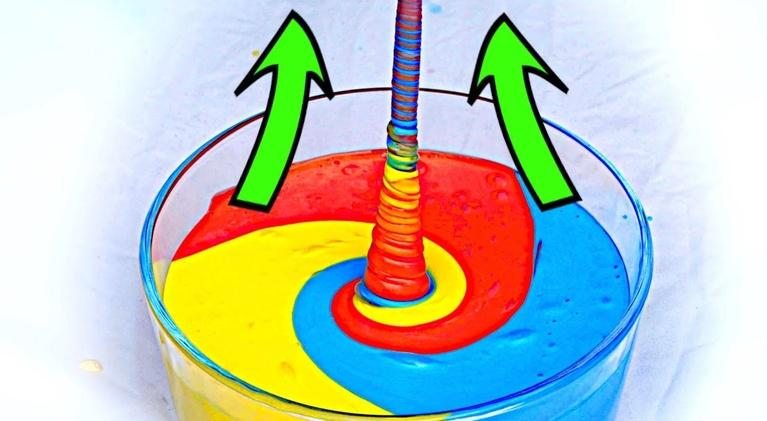 "Physics Girl: How to make fluid ""climb"" up! AMAZING SLIME EXPERIMENT!"