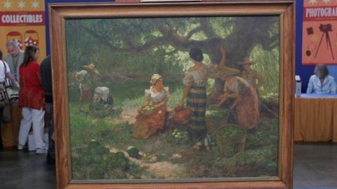 Antiques Roadshow -- Appraisal: 1948 Fernando Amorsolo Oil Painting