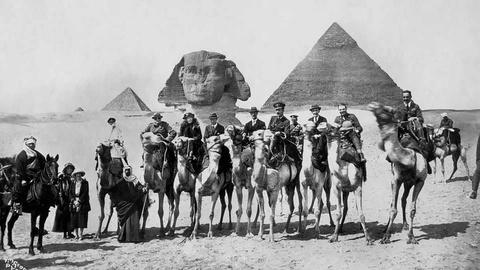 The End of the Cairo Conference at the Pyramids