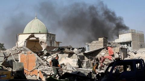 PBS NewsHour -- Iraqi forces reclaim mosque as ISIS territory shrinks
