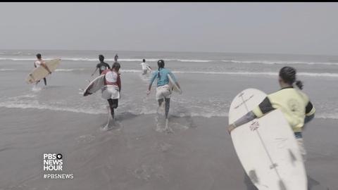 PBS NewsHour -- Bangladesh's surfer girls make waves