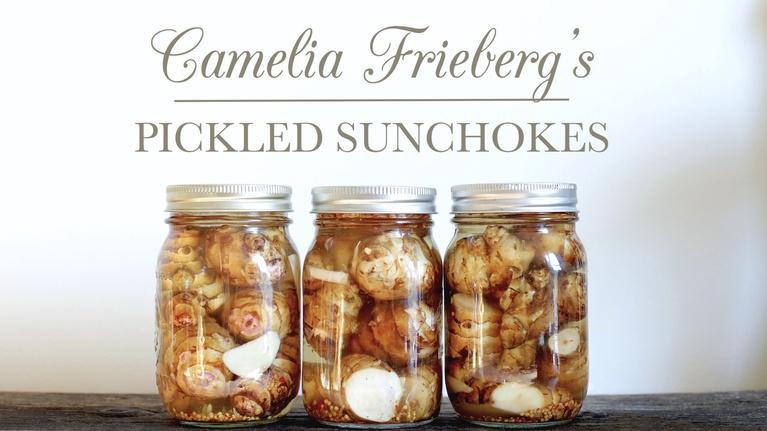 Kitchen Vignettes: Camelia's Lacto-Fermented Pickled Sunchokes