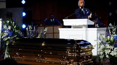 Mourners remember George Floyd as Trump draws pushback