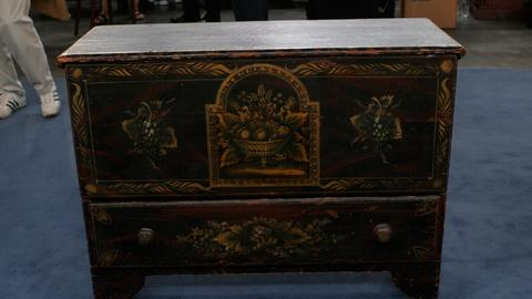 S24 E18: Appraisal: Painted Blanket Chest, ca. 1850