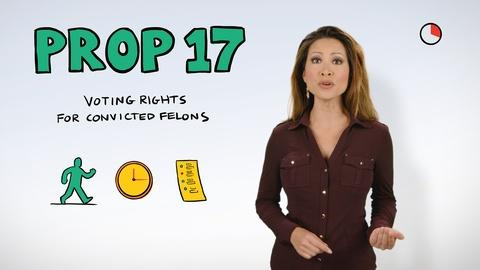 Ballot Brief -- Prop 17 in a Minute: Parolee Voting Rights