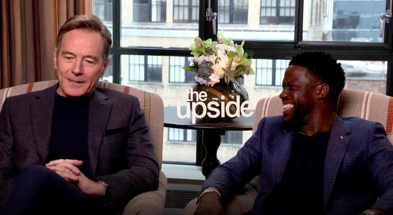 "Flicks: Bryan Cranston and Kevin Hart for ""The Upside"""