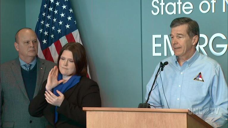 NC Emergency Management and Weather: NC Governor Roy Cooper's Weather Briefing - 01/18/18