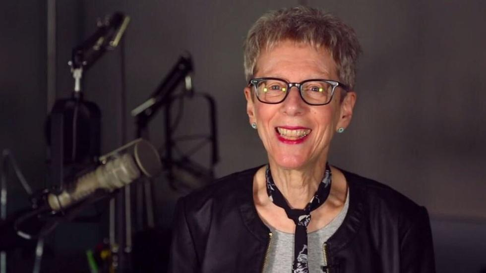 The Terry Gross you don't see on the radio image