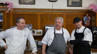 Vincent, Joseph, and Vincent Jr. at Termini Bakery