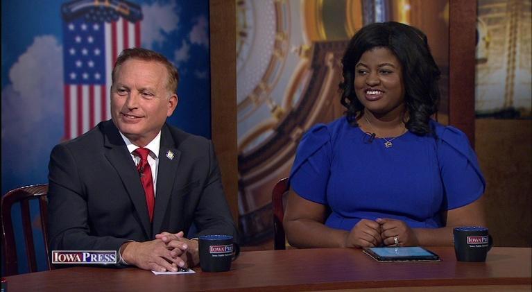 Iowa Press: Iowa Secretary of State Candidates Paul Pate & Deidre DeJear