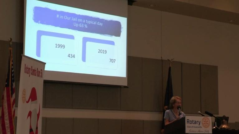 Evansville Rotary Club: Regional Voices: Roberta Heiman, Jail Overcrowding