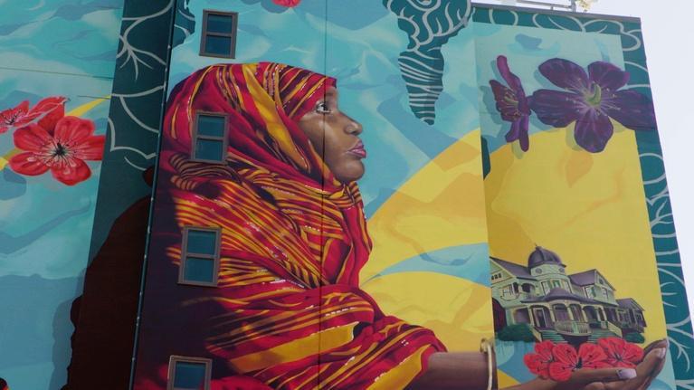 Broad and High: The Journey Mural, Paisha Thomas