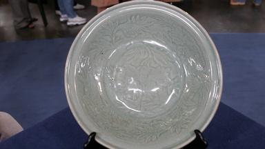 Appraisal: 15th C. Ming Dynasty Longquan Celadon Dish