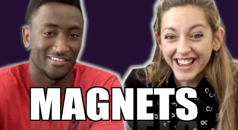 Physics Girl: How Magnet Paper Works ft. MKBHD