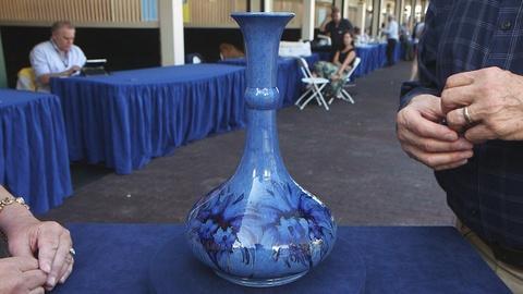 Antiques Roadshow -- Appraisal: Mooncroft Cornflower Vase, ca. 1935