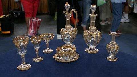 Antiques Roadshow -- Appraisal: Bohemian Glass Decanter & Stem Set, ca. 1880