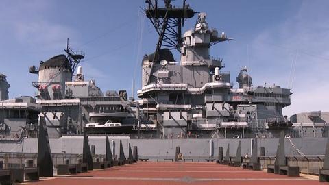 Battleship New Jersey sets sail for months-long closure