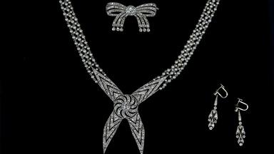 Appraisal: Early 20th C. Cartier Necklace & Brooch