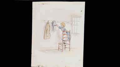"Appraisal: Tasha Tudor Drawing from ""Pumpkin Moonshine,"""