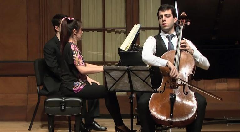 On Stage at Curtis: Cellist Timotheos Petrin and Pianist Chelsea Wang