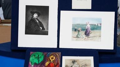 """Appraisal: Prints & Renoir """"Le Chapeau Épinglé"""" Etching"""