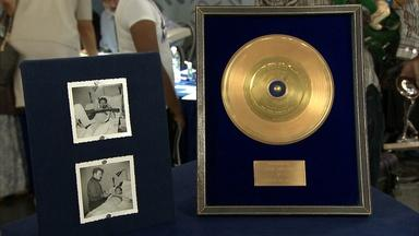 "Appraisal: Vincent ""Be-Bop A Lula"" Gold Record, ca. 1957"