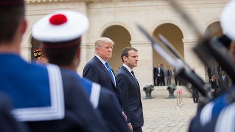 Washington Week -- Trump celebrates Bastille Day in France, Bush & Clinton talk