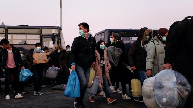 At Greek refugee camp, few defenses against COVID-19 threat