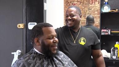 Camden barbers talk vaccine importance with customers