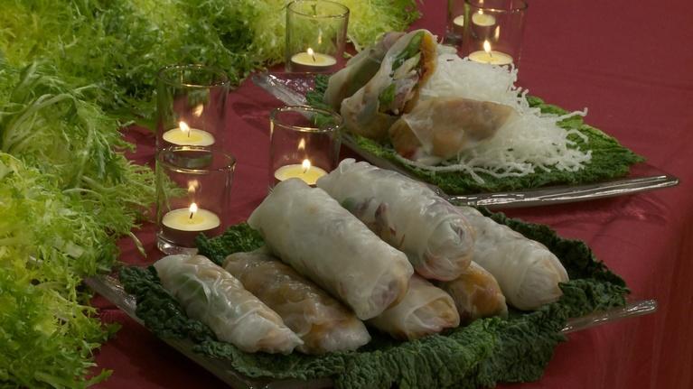Charlotte Cooks: Charlotte Cooks-Gingered Butternut Squash Spring Rolls