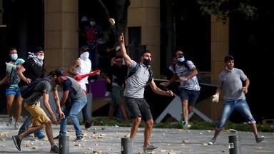 Violent protests, anger in Beirut over blast