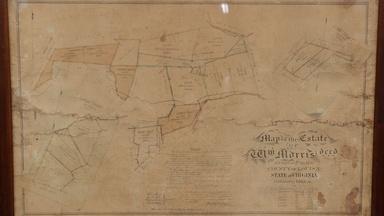 Appraisal: 1865 Virginia Property Manuscript Map