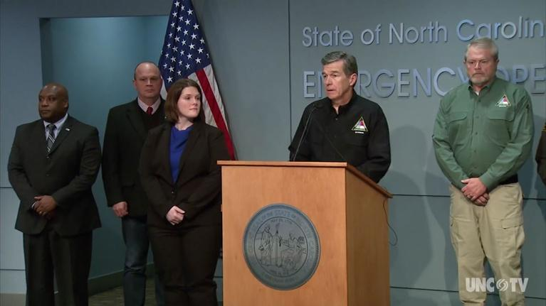 NC Emergency Management and Weather: NC Governor Roy Cooper's Weather Briefing - 01/17/18  5PM
