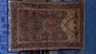 Appraisal: Persian Lavar Kirman Pictorial Rug, ca. 1900