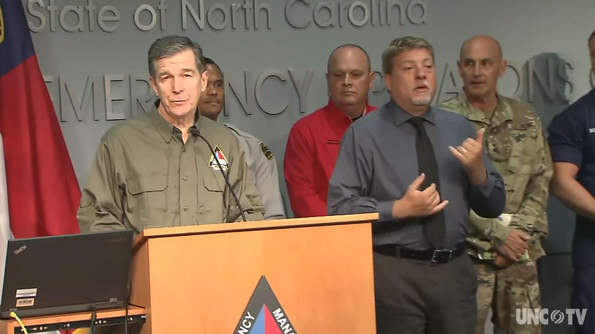 NC Gov. Cooper: Weather Briefing 10AM 09/05/19