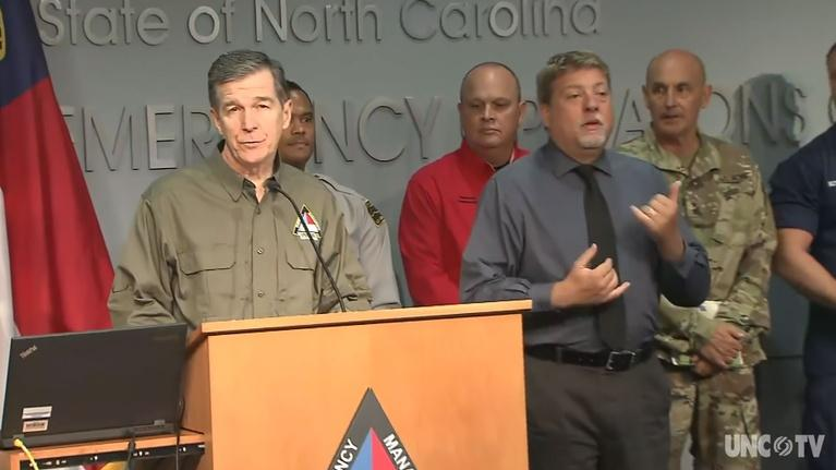 NC Emergency Management and Weather: NC Gov. Cooper's Weather Briefing 10AM 09/05/19