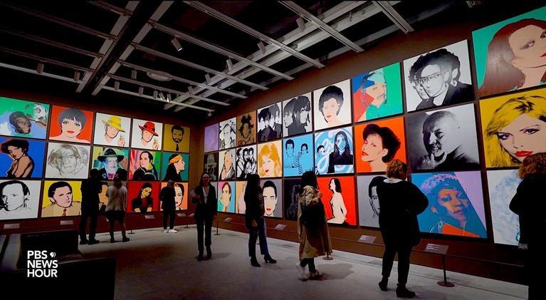 PBS NewsHour: Warhol retrospective has special resonance in Instagram age