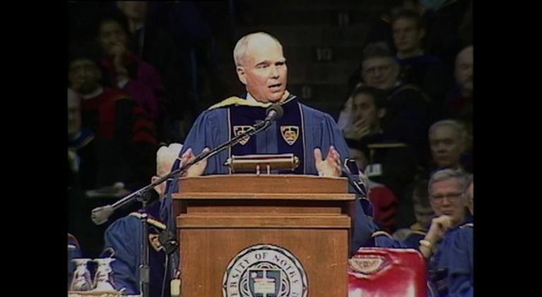 WNIT Specials: Lt. Governor Joe Kernan 1998 Notre Dame Commencement Speech