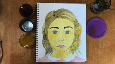 Self Portrait with Homemade Paint-Laura Zimmaro-Fourth Grade
